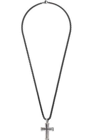 David Yurman Chevron Cross black diamond pendant