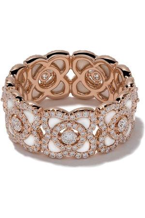 De Beers Damen Ringe - 18kt Enchanted Lotus Mother-of-Pearl and diamond band