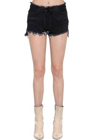 UNRAVEL Shorts Aus Baumwolldenim Mit Schnürung