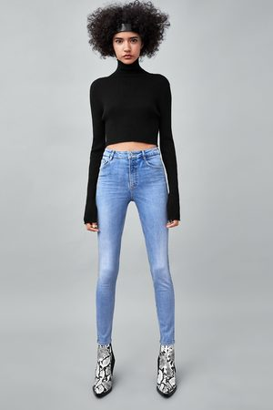 "Zara Damen High Waisted - JEANS SUPER HI-RISE SKINNY ""SCULPT"""