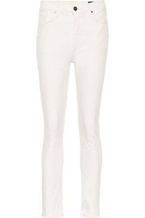 Goldsign High-Rise Slim Straight Leg Jeans