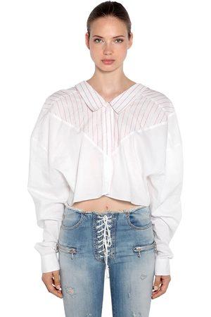 UNRAVEL Oversized Baumwollhemd Mit Streifen