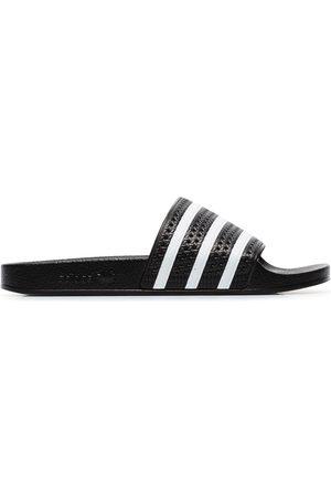 adidas Black and white Adilette slides