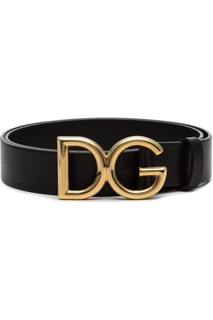 Dolce & Gabbana Logo buckle leather belt