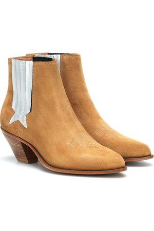 Golden Goose Ankle Boots Sunset aus Veloursleder
