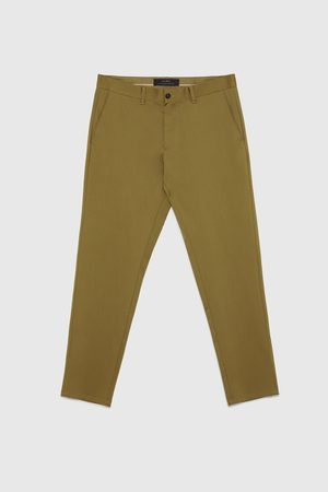 Zara KNÖCHELLANGE SLIM-FIT-CHINOHOSE