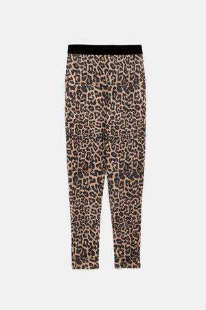 Zara Leggings & Treggings - LEGGINGS MIT TIER-PRINT