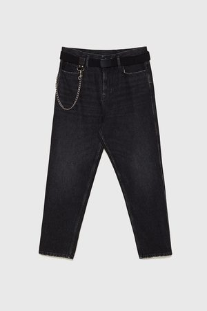 Zara Tapered - RELAXED-FIT-JEANS MIT KETTE