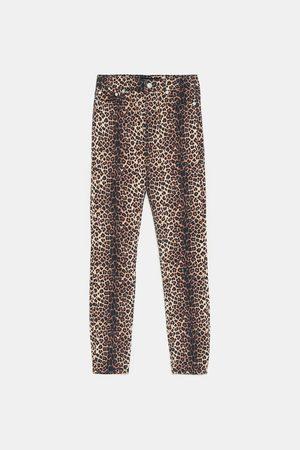 Zara High-waist-jeans zw premium im skinny-fit fall leopard