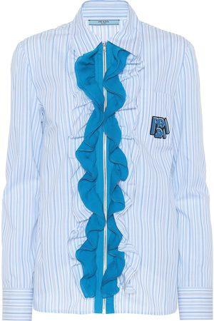 Prada Gestreifte Bluse aus Baumwolle