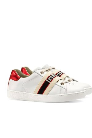 Gucci Jungen Sneakers - Children's Ace sneaker with Gucci stripe