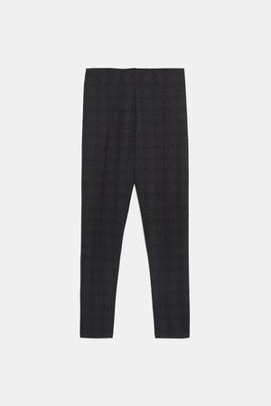 Zara Checked leggings