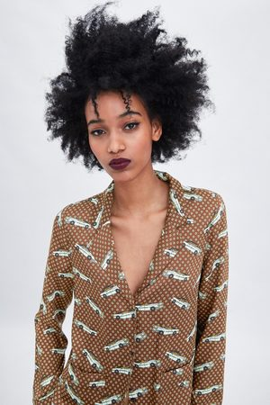 Zara Pyjamahemd mit print