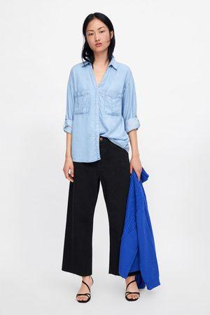 Zara Denimhemd mit taschen