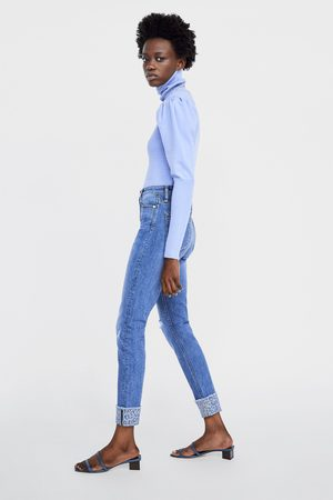 Zara Skinny-jeans z1975 mit hoher taille und saumaufschlag