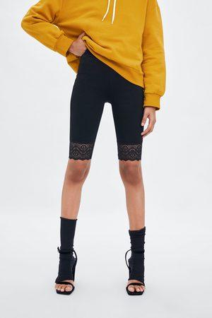 Zara Radlerhose mit spitzenbesatz