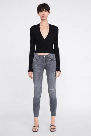 Zara Skinny-jeans zw premium in inox grey