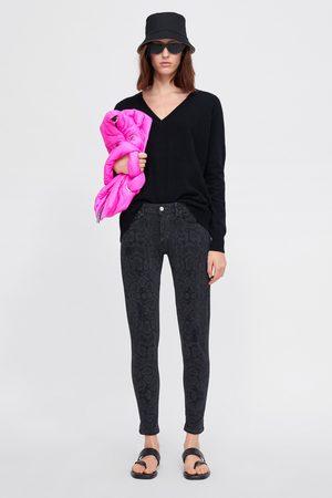 Zara Skinny-jeans z1975 mit animalprint