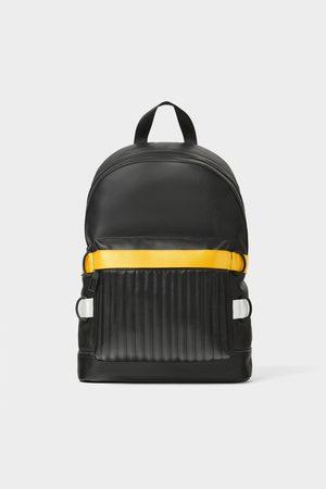 Zara Schwarzer rucksack mit bändern