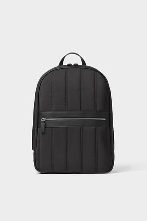Zara Gesteppter rucksack in