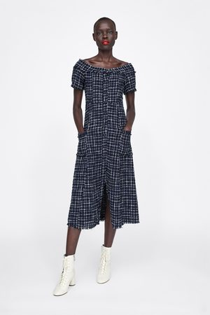 Schmuckknopf Kleid Mit Tweed Tweed Kleid Mit Schmuckknopf wnO0P8k