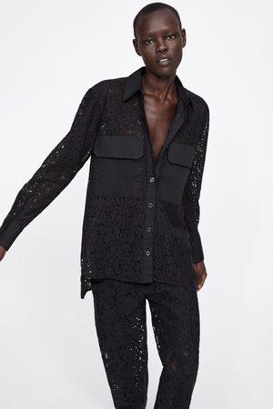 Zara Contrast shirt with pockets
