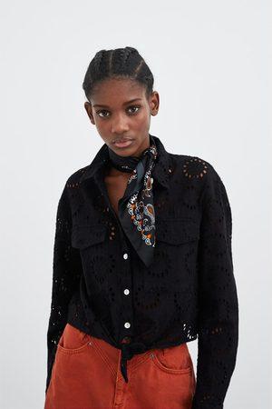Zara Hemd mit stickerei