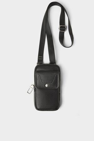 Zara Smartphone-hülle aus schwarzem leder