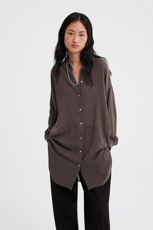Zara Lange strukturierte bluse