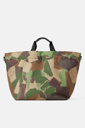Zara Gesteppter shopper mit camouflagemuster