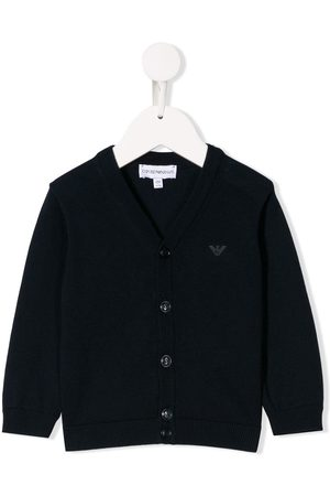 Armani Strickjacken - Logo printed cardigan
