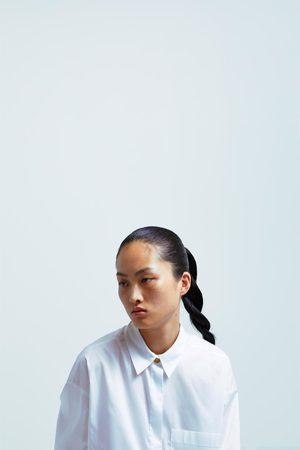 Zara Oversize-langbluse mit tasche