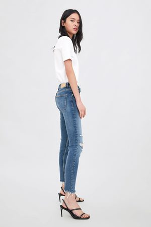 Zara Mid-rise-jeans im skinny-fit compact