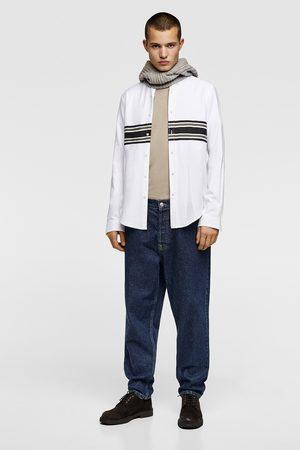 Zara Oxfordhemd mit querstreifen
