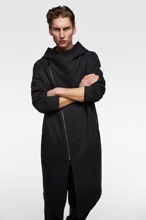Zara Sweatshirt mit asymmetrischem reissverschluss
