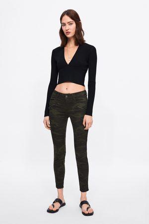 Zara Skinny-jeans z1975 mit camouflagemuster