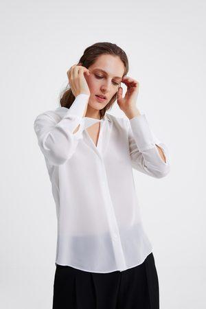 Zara Asymmetrisches hemd aus seide
