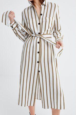 Zara Gestreifte tunika mit taschen