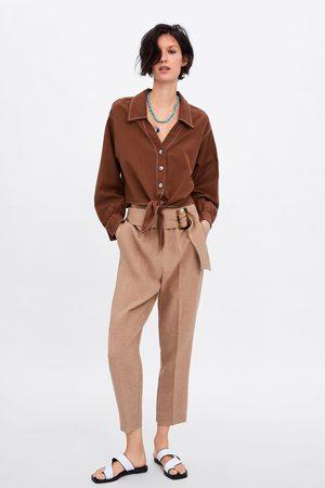 Zara Kurzes hemd mit knöpfen