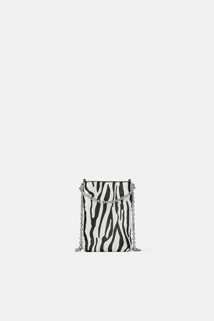 Zara Handyhülle aus leder mit animalprint