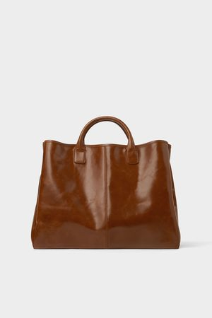 Zara Eleganter shopper in braun