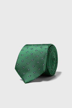 Zara Breite jacquard-krawatte mit paisleymuster