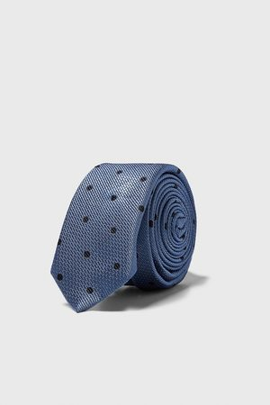 Zara Schmale jacquard-krawatte mit tupfen