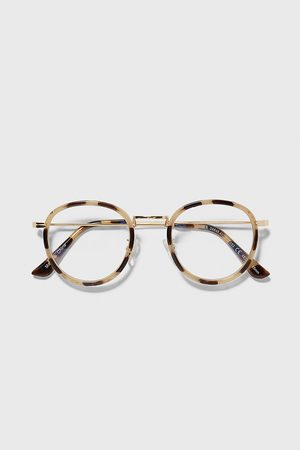 Zara Ovale sonnenbrille mit metallgestell
