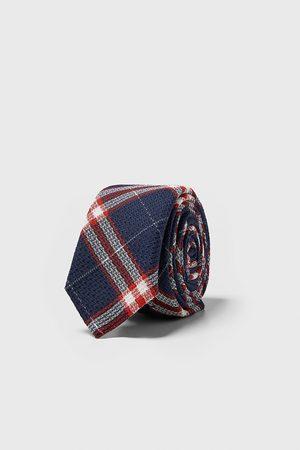 Zara Schmale krawatte mit karomuster