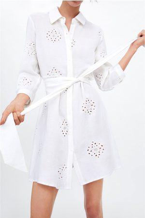 Zara Tunika mit stickerei und gürtel