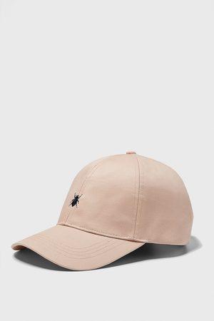 Zara Baseballcap mit insekten-stickerei