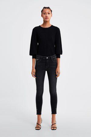Zara Skinny-jeans zw1975 mit schlitzen am saum