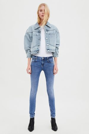 Zara Jeans mid rise sculpt risse