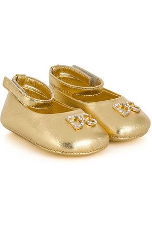 Dolce & Gabbana Baby Ballerinas - Crystal embellished ballerina shoes